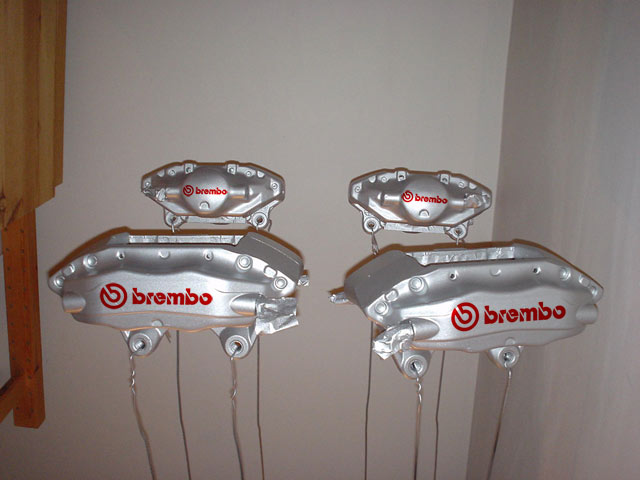 R33 GT-R Brembo - Silver and Red Mockup