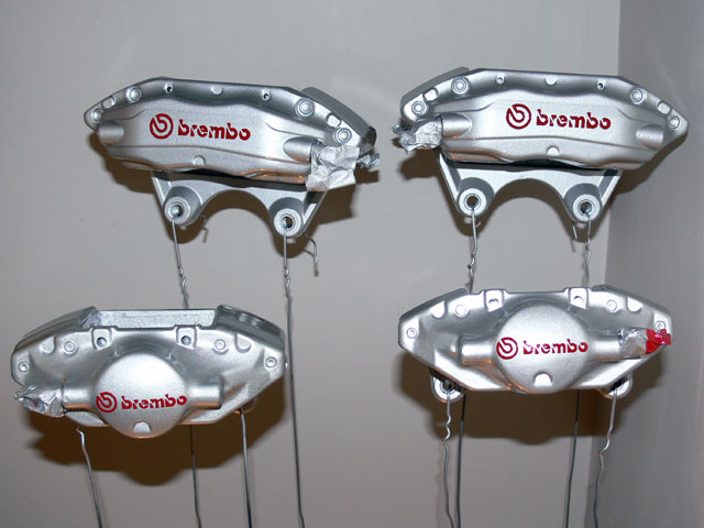 R33 GT-R Brembo (Rear) - Silver with Red Logo