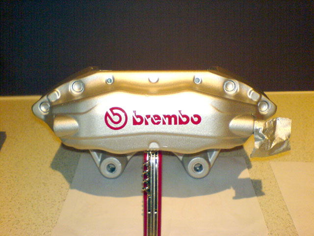 R33 GT-R Brembo (Front) - Silver with Red Logo