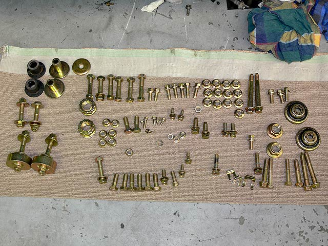 Re-coated (Zinc/Gold) Assorted Bolts