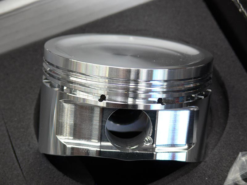 Side Closeup of CP Forged Piston for SR20