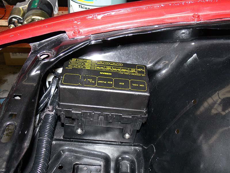 S13 Relocated Fuse Box