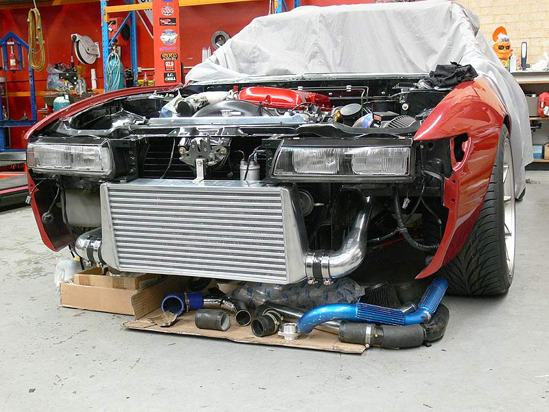 Hybrid Intercooler Mounted/S13 Square Headlights