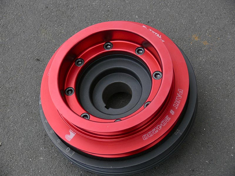 Ross Tuffbond SR20 Metal Jacket Harmonic Balancer (Crank Pulley) in custom order red
