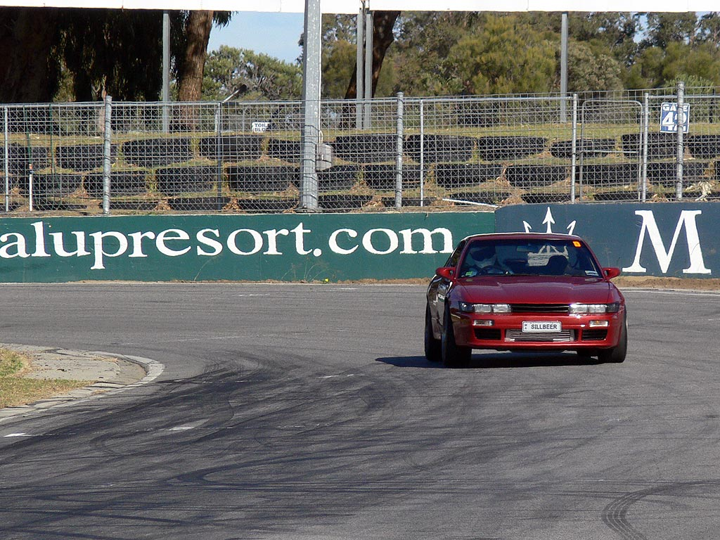 Out on the track at Barbagallo Raceway