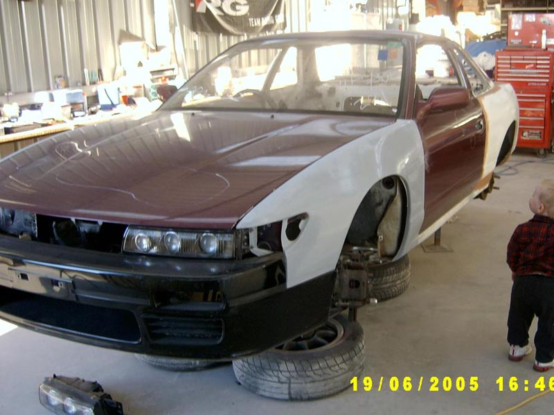 S13 wide body panels fitted
