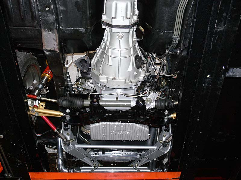 Underside of engine