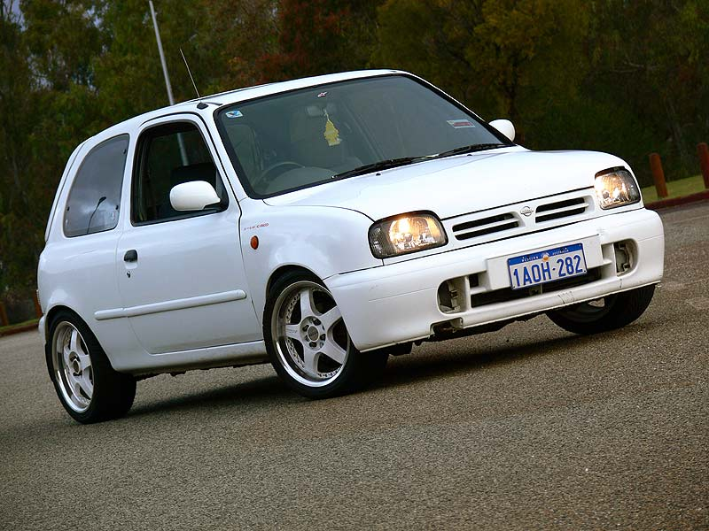 K11 Nissan Micra Super S from the front