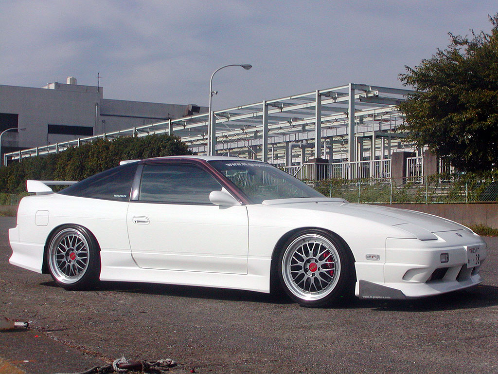 Nissan 180SX Type-X on BBS LM