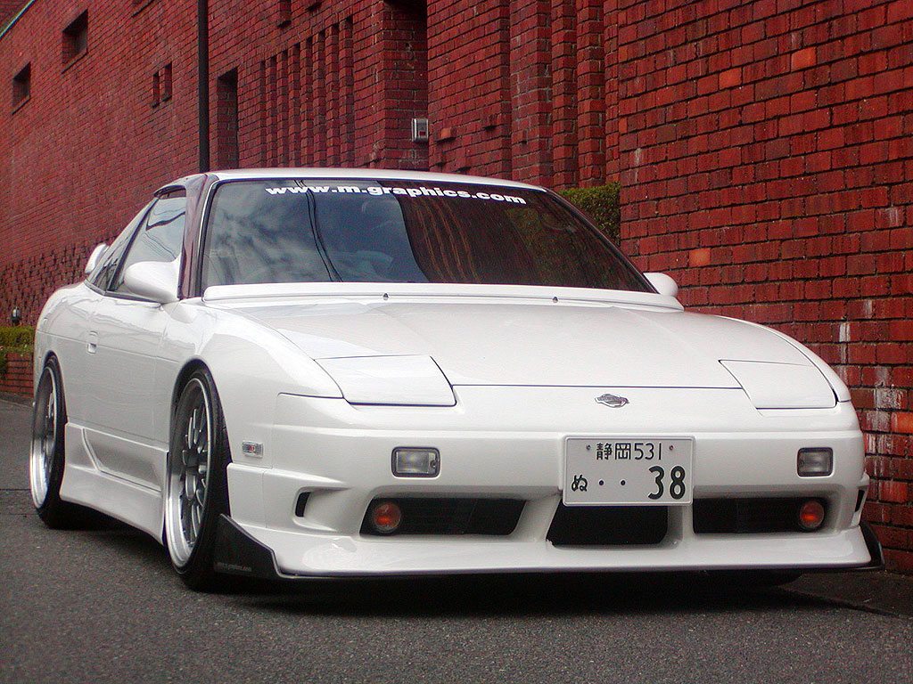 Nissan 180SX Type-X Front Bar and Bonnet Spoiler