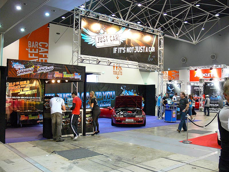 The Just Cars Insurance stand at Perth Autosalon 2010