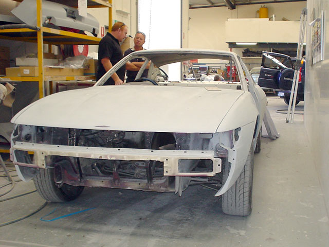 S13 Silvia Widebody in primer