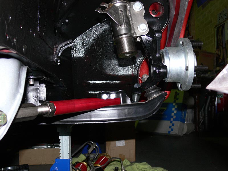 View of front suspension arms
