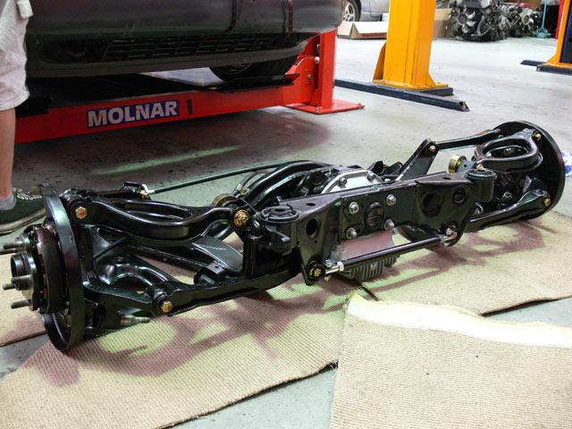 Rear subframe assembled