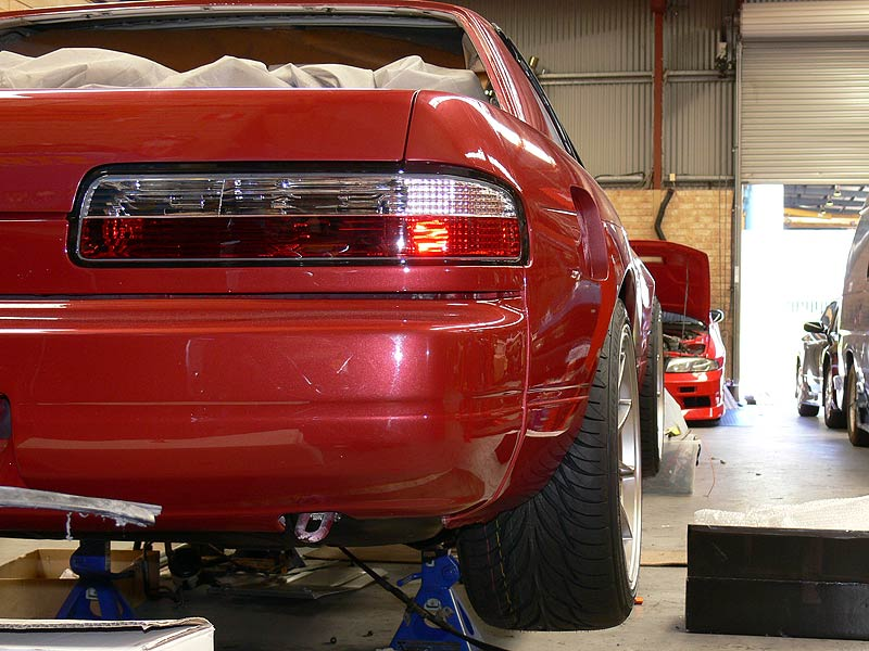 WedsSport TC105N Fitted with Tyres - S13 Rear View