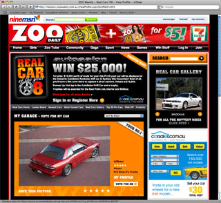 Vote for SILLBEER in Zoo Real Car competition